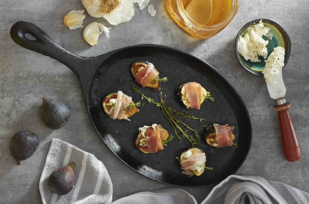 Goat Cheese Fig and Prosciutto Bites