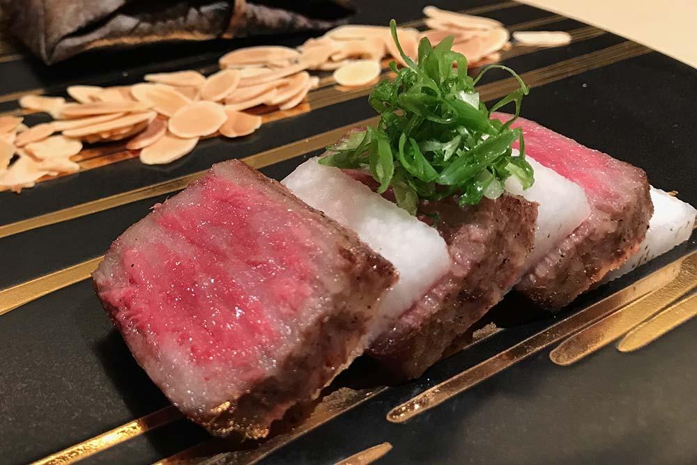 Olive Beef, Nishiki restaurant at Royal Park Hotel Takamatsu, Kagawa, Shikoku
